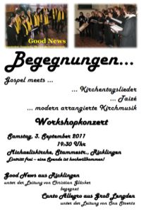 Gospel-Workshopkonzert: Begegnungen