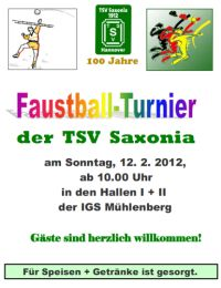 Faustball-Turnier am 12.02.2012