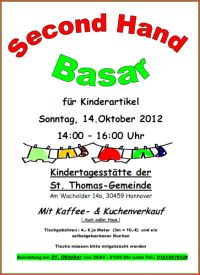 Second Hand Basar für Kinderartikel