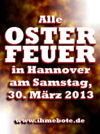 Alle Osterfeuer 2013 in Hannover