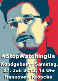 27.07. #StopWatchingUs – Hannover