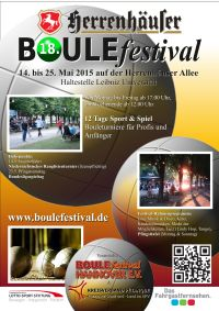 18. Herrenh�user BOULEfestival Hannover 2015